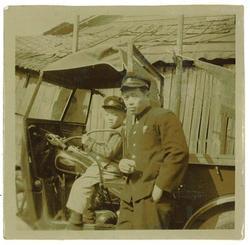 集配用オート三輪車と私の従兄