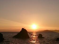 浜参宮からの日の出