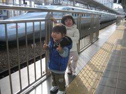 岡山駅ホーム